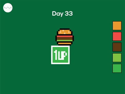 Day 33: Burger logo