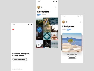 Instagram Likes grid gallery mobile design swipe likes instagram design studio clean design agency ui ios app
