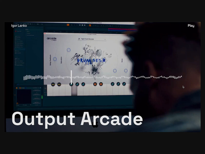 Output Arcade — Navigation Redesign showcase designsystem product design ui macos desktopapp music production