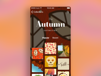 """""""Secret iOS thing"""" — collection screen collection fall autumn grid ios gallery"""