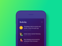 #dailyui047 — Activity Feed