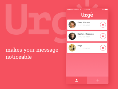Urge — a pager-like app for urgent contacts messages texts calls notifications urgent