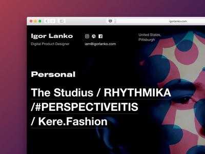 igorlanko.com — 5 designer personal portfolio
