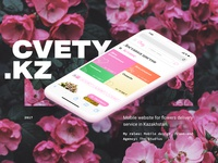 Showcase of flowers delivery service mobile design
