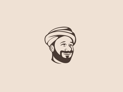 Arabian man black concept typography branding illustartion vector artwork illustration design logo