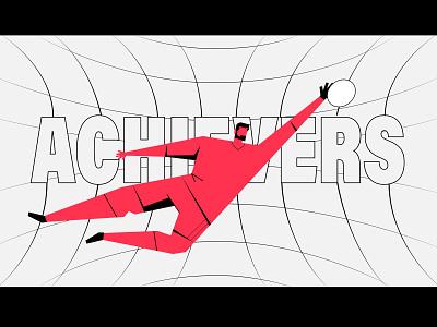 Goal Keeper achieve football art vector illustration match sport men wine goalkeeper