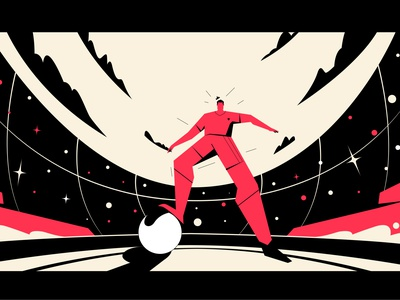 Football player 02 champion sky stadium red cool attack goal wine black vector illustration player