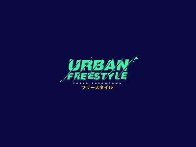 Urban Title 04 concept illustrator icon branding artwork purple logo style design vector illustration typography