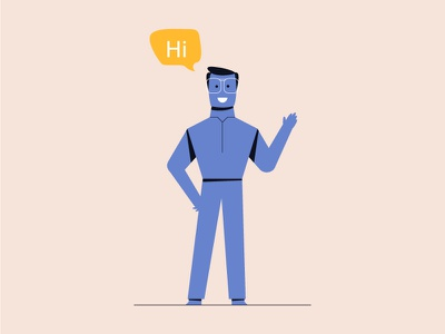 Student illustartion wave man style design student vector artwork illustrator art