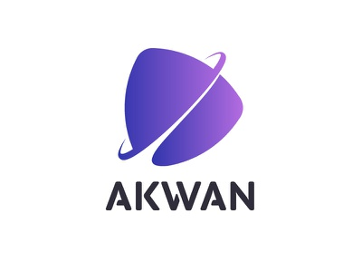 Akwan orbit typogaphy purple space logo