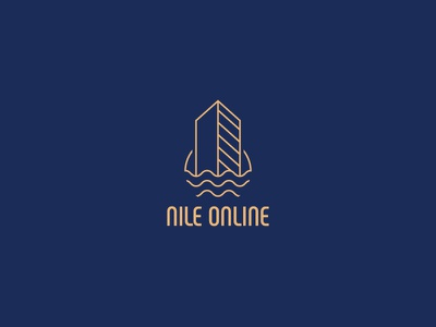 Nile online icon ui illustration concept blue vector typography design artwork art illustrator logo branding