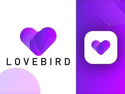 LOVEBIRD MODERN LOGO icon logo app logo lovebird modern logo logo grid logo concept logo folio minimal logo modern logo graphic logo logo design ux ui design logo illustration vector icon graphic design branding app