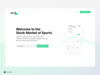 Fanvest - Landing page
