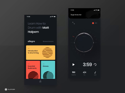 Music App - MVP after effects icon logo apple iphone design animation ui ux app prototype minimum viable product mvp