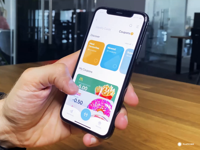 Coupon App - MVP startup principle ae icon logo app iphone animation ui ux mvp prototype minimum viable product