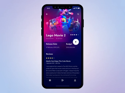 Movie App apple smooth logo tap movie app iphonex motion iphone ios icon mobile app design after effects animation gif ux ui