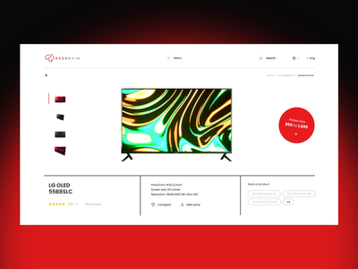 Lazarev.   E-Commerce Product Page website price history features compare product e-commerce ecommerce adaptive typography minimal illustration icon flat app animation web motion ux ui design