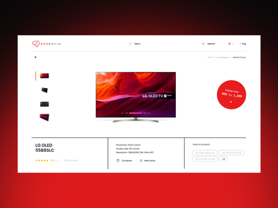 Lazarev. | E-Commerce Product Page button marketplace red white price compare mobile product page product items e-commerce clean adaptive web features ecommerce design ui ux