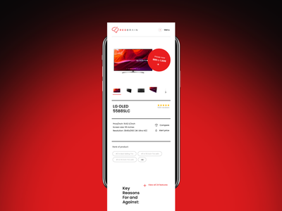Lazarev. | Product Page web features ecommerce design ui ux prices