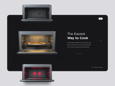 Website for a Smart Oven | Lazarev. creative landing website app graphic design specs light interaction pizza in use 3d product oven branding design ecommerce clean web ux ui