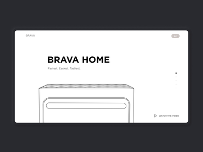 Animation for Brava Home oven | Lazarev. design web clean tech black light cooking process home interaction animation motion graphics oven product page ecommerce product ux ui