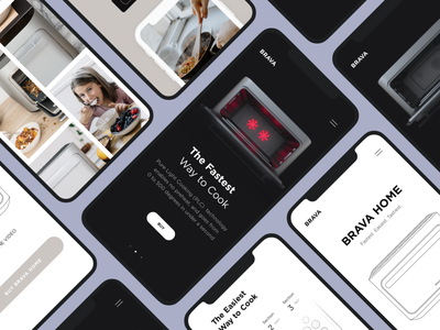 Responsive Website Brava   Lazarev. buy gallery 3d home design web ecommerce ux ui product white black clean adaptive mobile