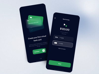 Banking Mobile App — Concept   Lazarev. motion graphics transaction interaction send onboarding animation cards app banking bank mobile ux ui