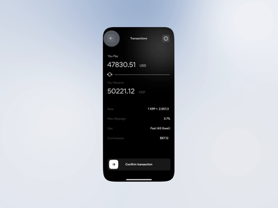 Animation for banking app   Lazarev. pay balance list payment wallet exchange transaction bitcoin btc banking bank mobile animation design adaptive ux ui