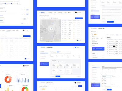 Security web app   Lazarev. analysis location map list charts motion graphics dashboard animation design web clean ux ui