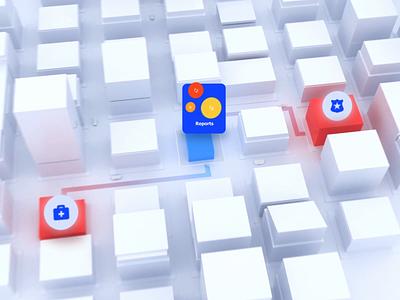 Mozayix risk assessment app | Lazarev. area survey protect security building office explainer promo car truck list charts graphs visualization data interface motion graphics animation 3d ux ui