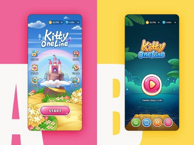 Kitty One Line - Index A or B? compare mobile android illustraion art game design game art game puzzle game puzzle fill home index relax version