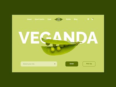 Veganda. Online vegan grocery store ux ui design