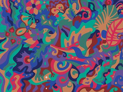 Altaya plant motif ornament pattern mysterious forest plants sketch design illustration