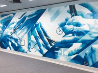 Smart room wall in Festo offices
