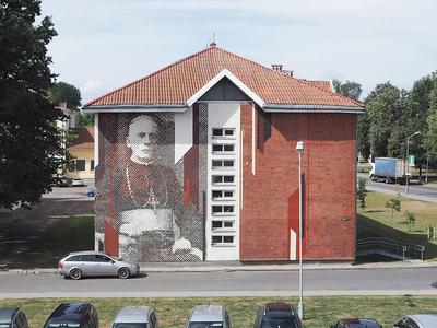 Mural of blessed Teofilius Matulionis