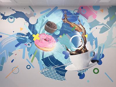 Festo indoor mural wallpainting neomural mural illustration kaunas plugas
