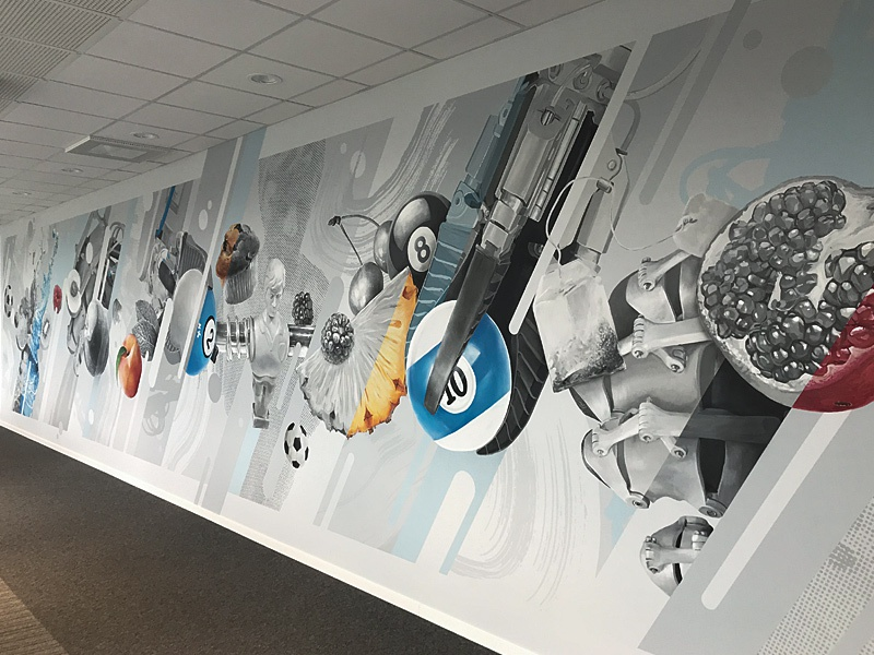 FESTO Lietuva walldecor design wallpainting indoor mural lithuania kaunas plugas