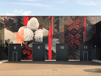 Kaunas, Ąžuolynas wallpainting design walldecor mural neomural spraypainting lithuania kaunas plugas