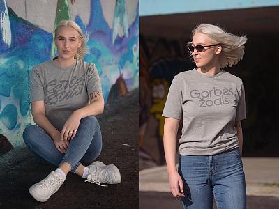 Garbės žodis T-shirts garbeszodis grey tshirt logo design lithuania lettering kaunas plugas