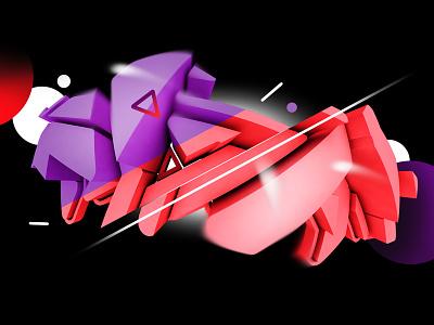 KWT 3d illustration lettering kaunas plugas