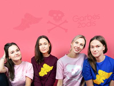 Garbės žodis t-shirts and sweaters streetwear illustration design plugas