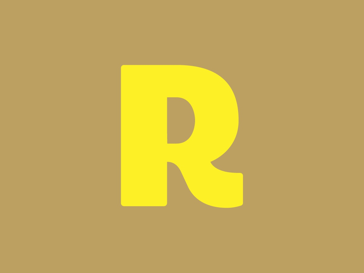 R letter r icon vector logo