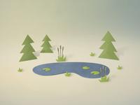 Paper Pond Scene