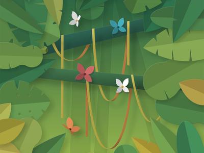 Layered Jungle Scene