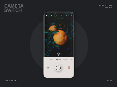 Camera Mode Switch app vietnam ui design perspective os motion animation 3d interaction mobile android ux ui camera