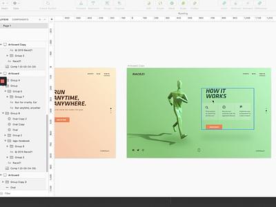 Virtual Run   Landing Page webdesign web landing page uidesign uiux ux carousel scroll run race character 3d vietnam interaction illustration web design product design motion animation
