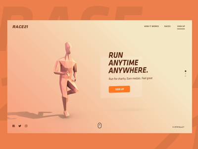Virtual Run | Landing Page webdesign web landing page uidesign uiux ux carousel scroll run race character 3d vietnam interaction illustration web design product design motion animation
