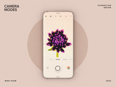 Viewing Camera Modes ux product design app flower 3d concept minh pham vietnam interaction motion animation mobile uiux ui camera