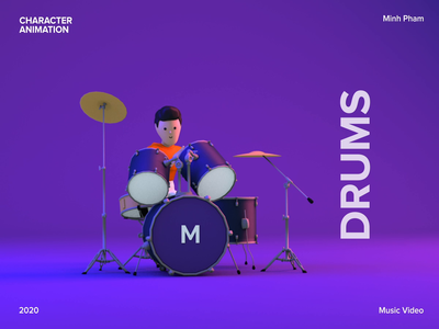 Making a music video with 3D animation tutorial cinema 4d minh pham vietnam character animation 3d model design motion music illustration 3d animation animation 3d