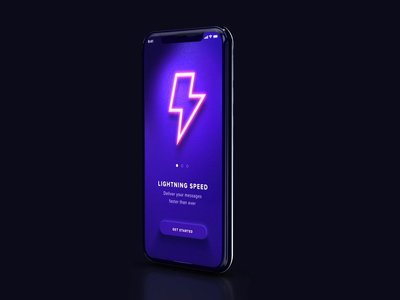 Splash screen app onboarding splash tutorial mockup minh pham vietnam lights neon ios iphone product design illustration interaction animation motion mobile ux ui